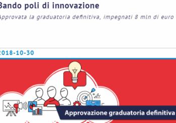 Poli d'Innovazione – Approvata la graduatoria definitiva